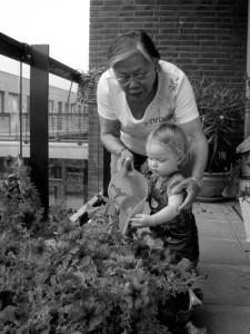 Oma en Roos